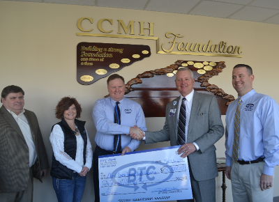 BTC Bank Makes Donation to Carroll County Memorial Hospital Foundation
