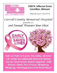 2nd Annual Breast Cancer Awareness Event to be Held at CCMH