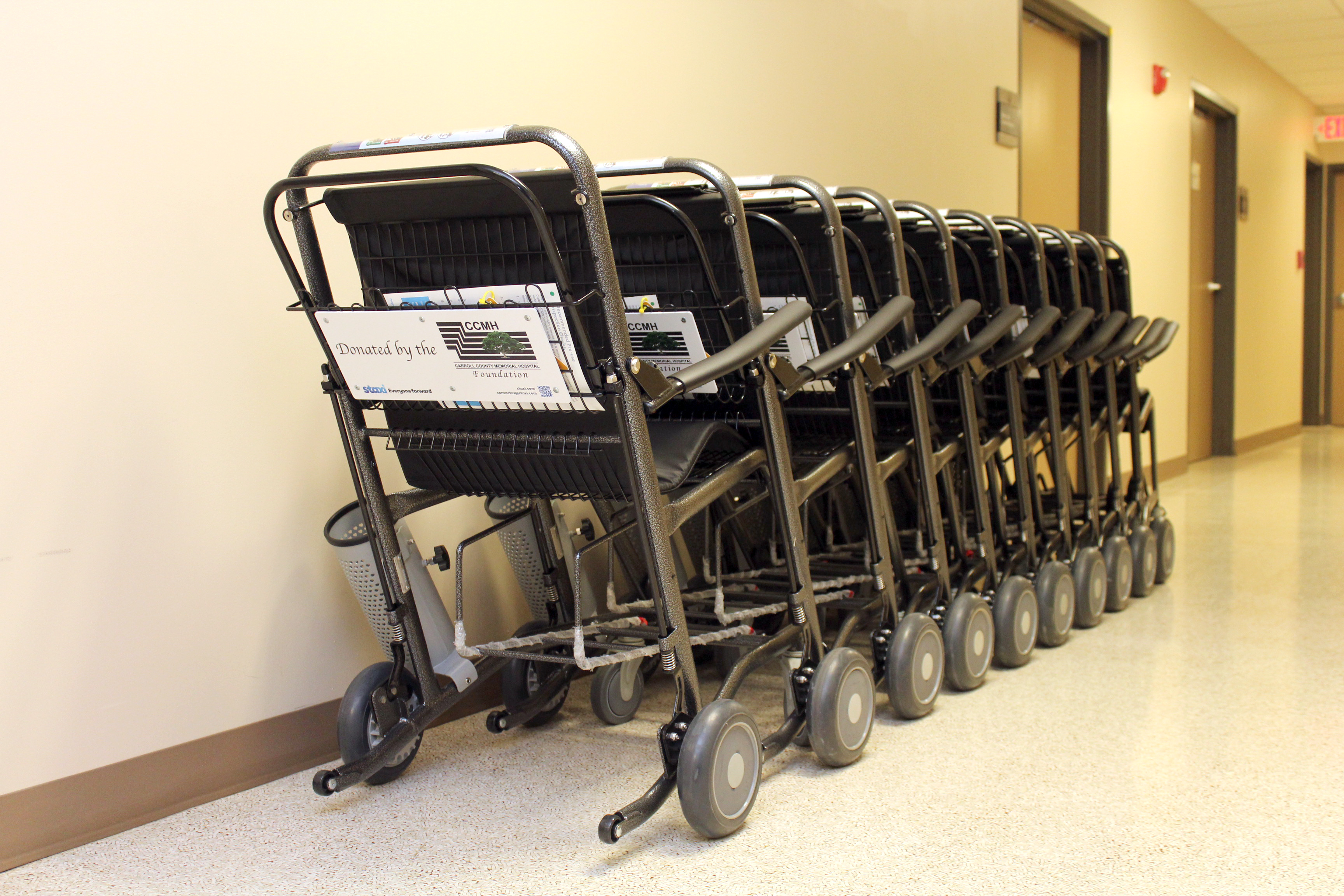 CCMH Foundation Purchases Transport Chairs for Hospital