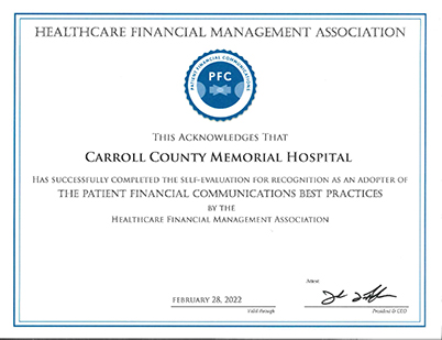 CCMH Receives National Recognition for Excellence in Financial Interactions with Patients